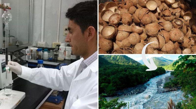 , Científico peruano descubrió que la cáscara de coco elimina el arsénico del agua de los ríos