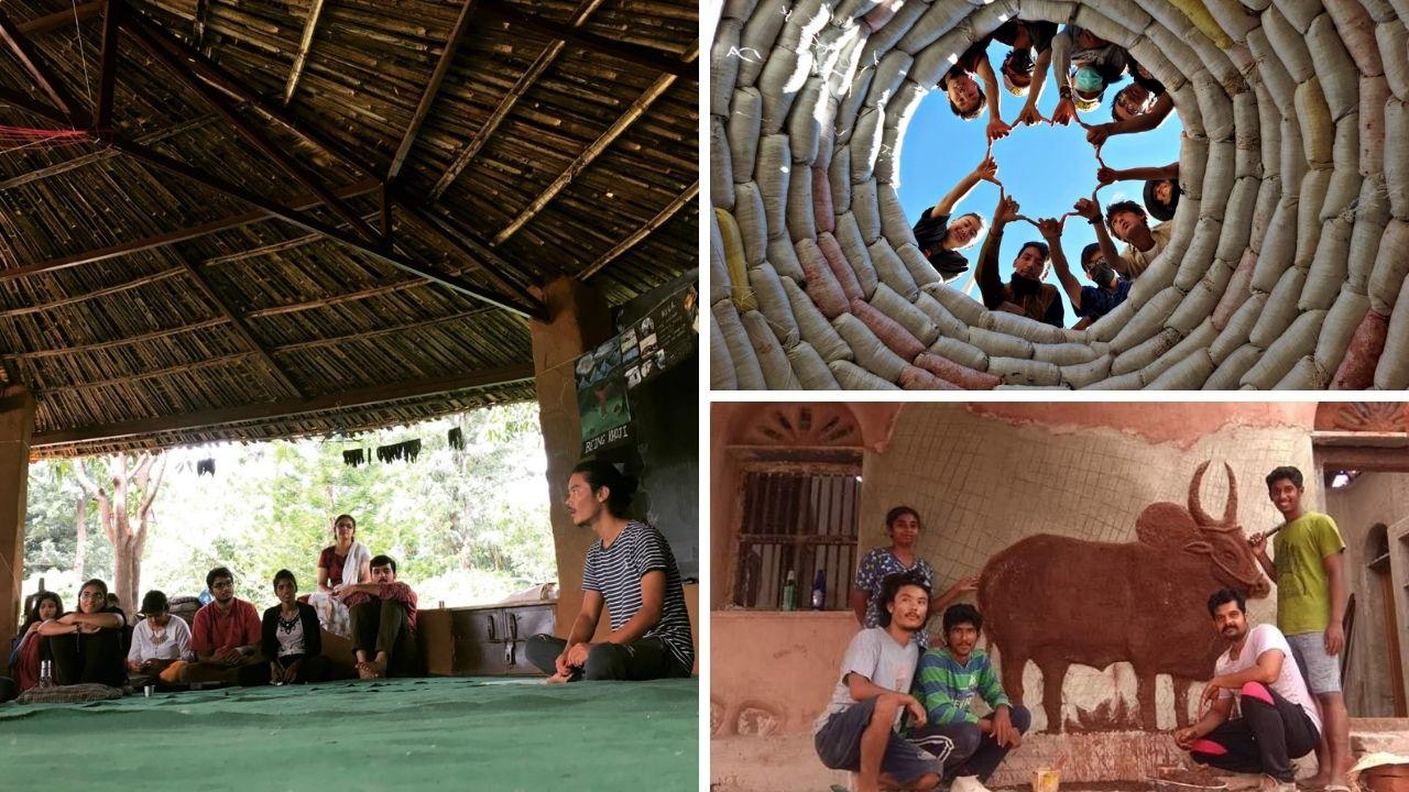 Dos jóvenes arquitectos nómadas construyen casas sustentables en India