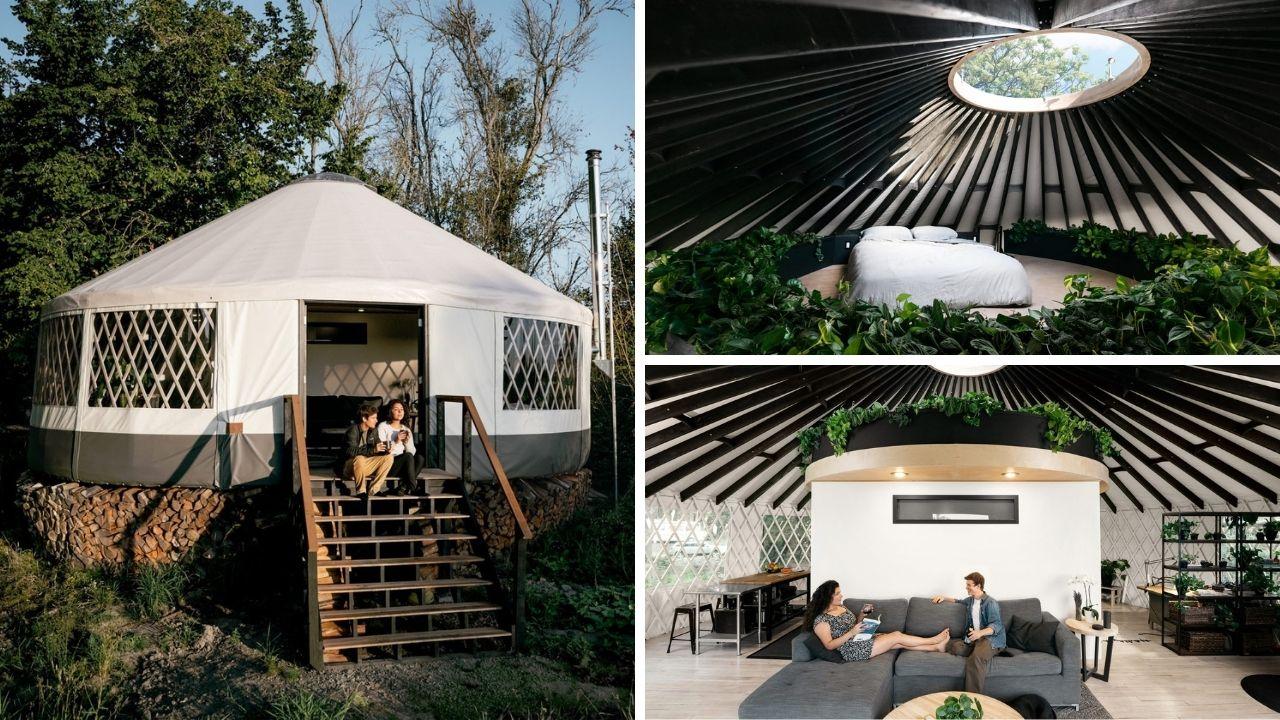 Jovenes enseñan cómo construir tu propia yurta con un diseño contemporáneo