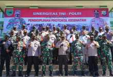 Photo of Sinergitas TNI-Polri dalam rangka Pendisiplinan Protokol Kesehatan di Wilayah Papua Barat 2020