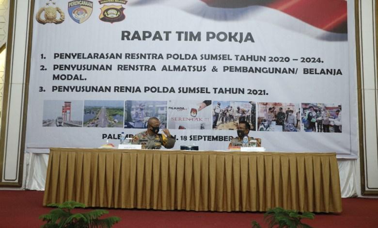 Photo of Wakapolda Sumsel Di Dampingi Karo Rena Membuka Rapat Tim Pokja
