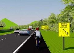 BR-277 terá sinalização específica para ciclistas na tentativa de reduzir acidentes