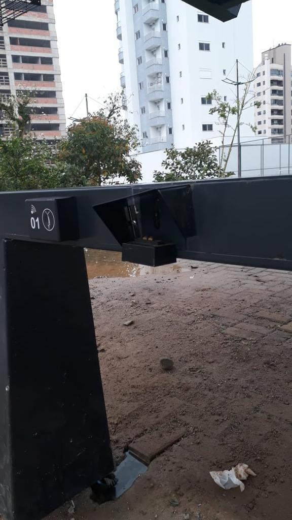 Estação BBike da Praça Sesquicentenária é vandalizada antes mesmo de inauguração