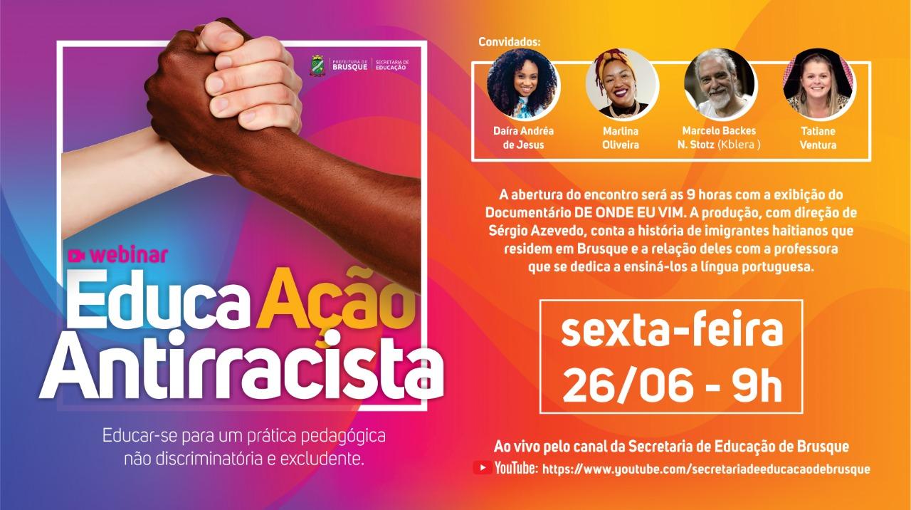 Secretaria da Educação promove debate com o tema racismo