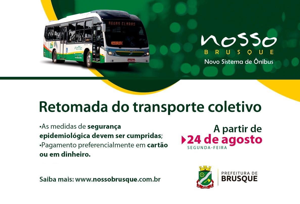 Transporte coletivo será retomado em Brusque nesta segunda-feira (24)