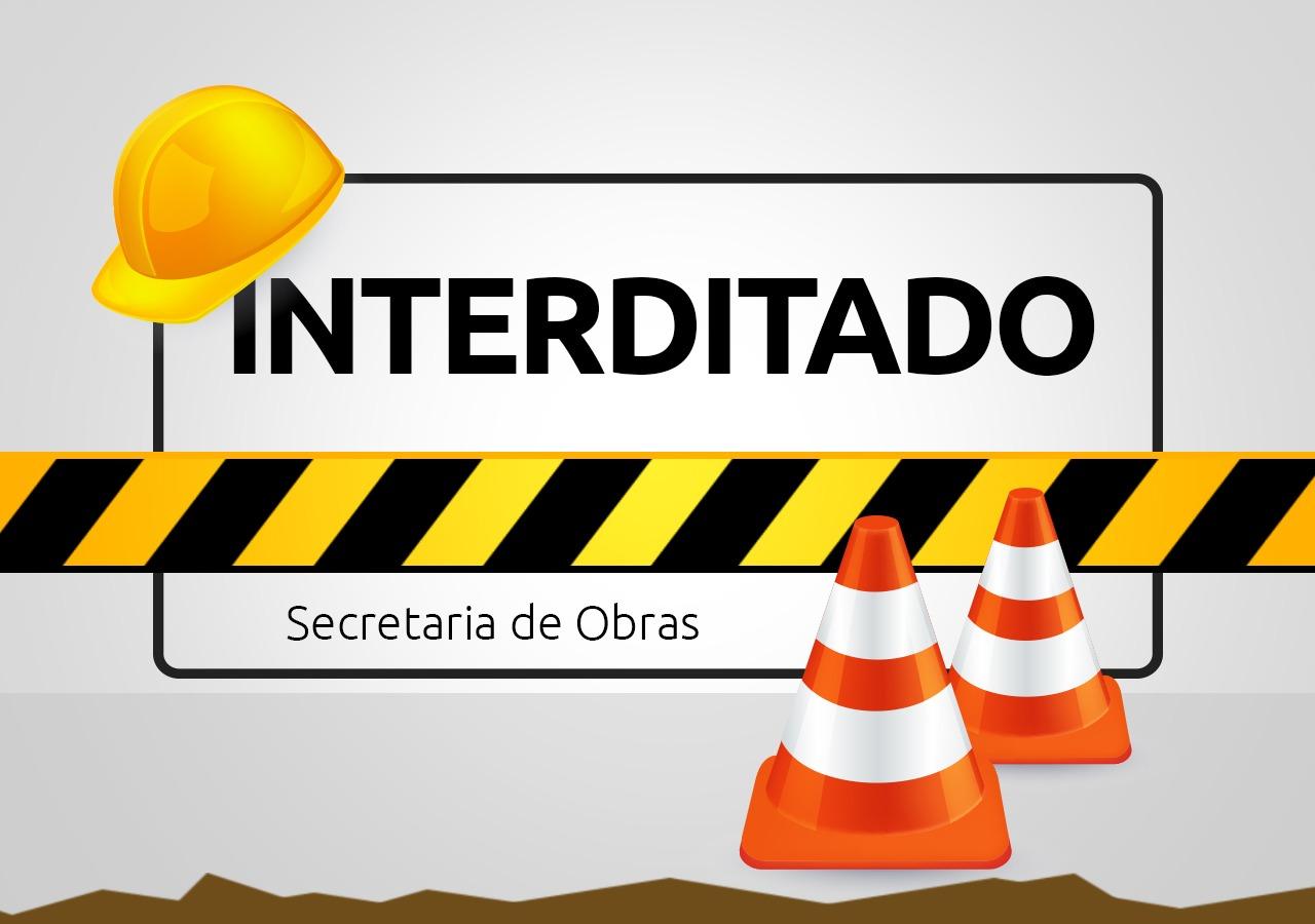 Rua em meia pista: Obras na Alberto Klabunde continuam nesta quinta-feira (04)