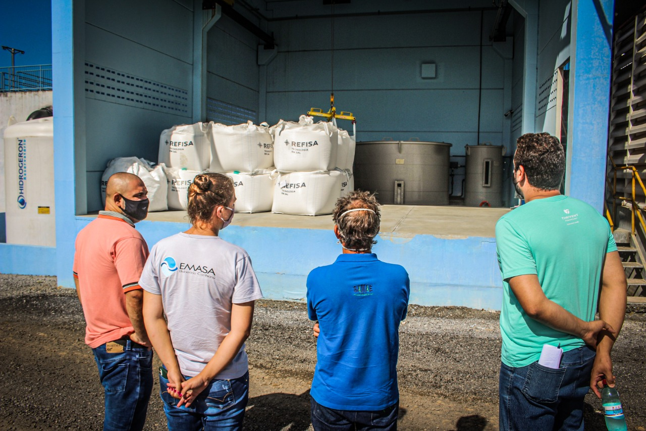 Samae visita Emasa para conhecer sistema de geração de cloro