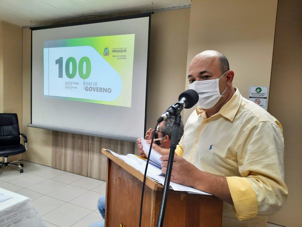 Prefeito de Brusque apresenta ações dos 100 dias de governo