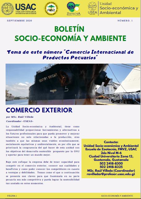 BOLETINES SOCIOECONÓMIA Y AMBIENTE 2020