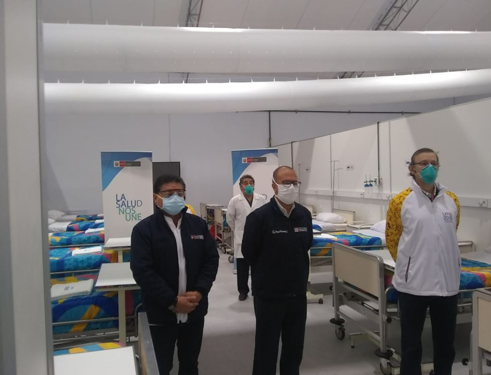 Hospital Sergio E. Bernales inauguró Centro de Atención y Aislamiento para pacientes Covid-19 con 48 camas