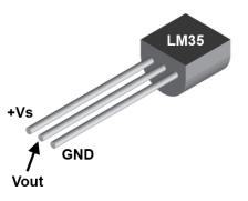 Sensor de temperatura LM 35