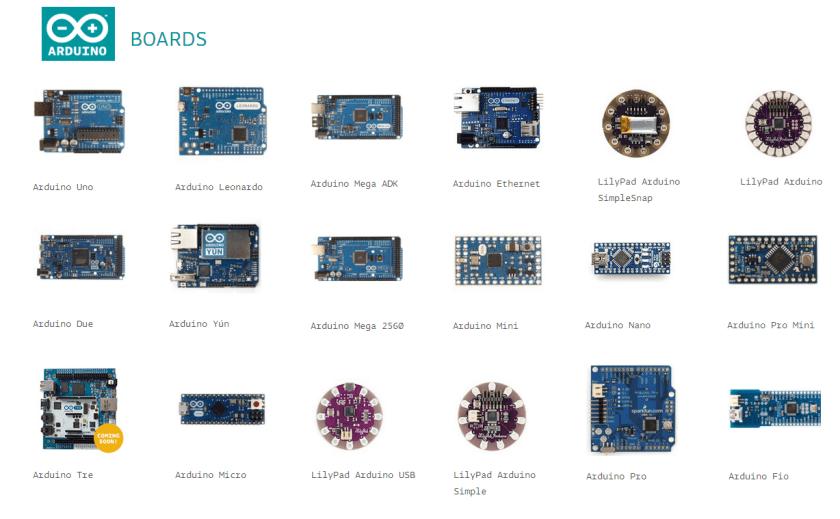 Modelos de placas Arduino - O que é Arduino