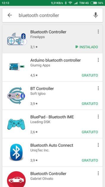Tela Aplicativo Android Hyperterminal RS232 Arduino ESP32