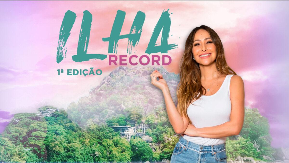 Sabrina Sato em divulgação do novo reality Ilha Record.