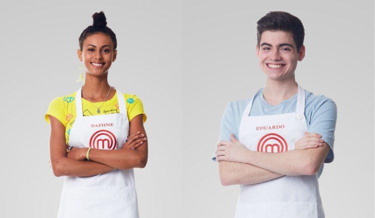 Daphne e Eduardo em foto de divulgação do MasterChef Brasil