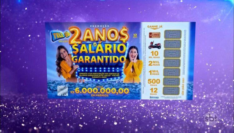 Tele Sena de São João na abertura do sorteio exibido no SBT