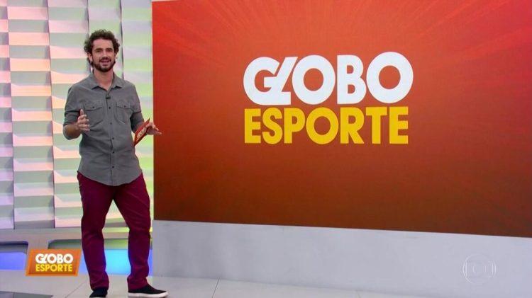 Felipe Andreoli nos estúdios do Globo Esporte de SP