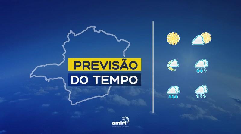 Veja a previsão do tempo para Minas Gerais nesta segunda-feira, 18 de outubro