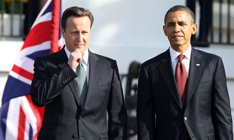 David Cameron dhe Barack Obama