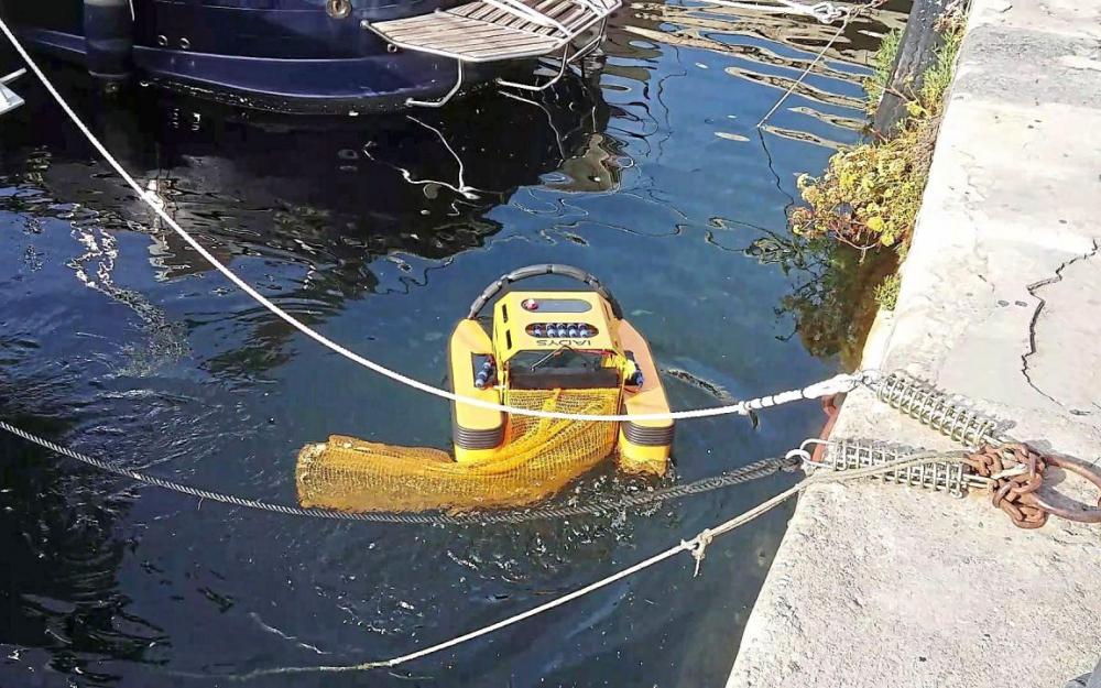 Portalban, un robot pour nettoyer le lac