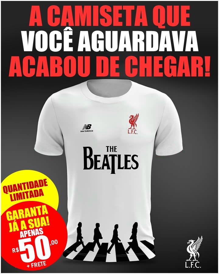 Camisetas Liverpool F C Com O Logotipo Dos Beatles Portal Beatles Brasil