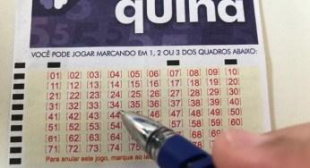 Quina Concurso 5295 vai pagar R$1.500.000,00 nesta segunda-feira (15/06/2020)