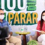 Josemira e Ziro durante live dos 100 dias