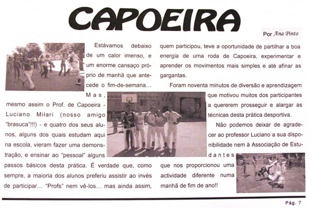 Portal Capoeira Aulão de Capoeira na Escola Secundária de Mogadouro Capoeira