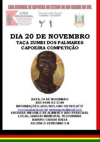 Portal Capoeira TAÇA ZUMBI DOS PALMARES Eventos - Agenda