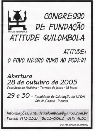 Portal Capoeira Quilombo Moderno - Atitude Quilombola Eventos - Agenda