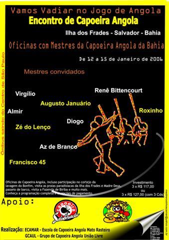 Portal Capoeira Encontro de Capoeira Angola - Ilha dos Frades Salvador-Bahia Eventos - Agenda