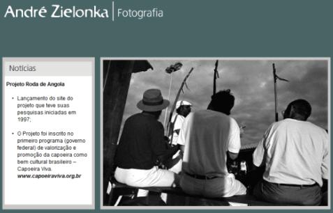 Portal Capoeira Projeto fotodocumental ganha site Notícias - Atualidades