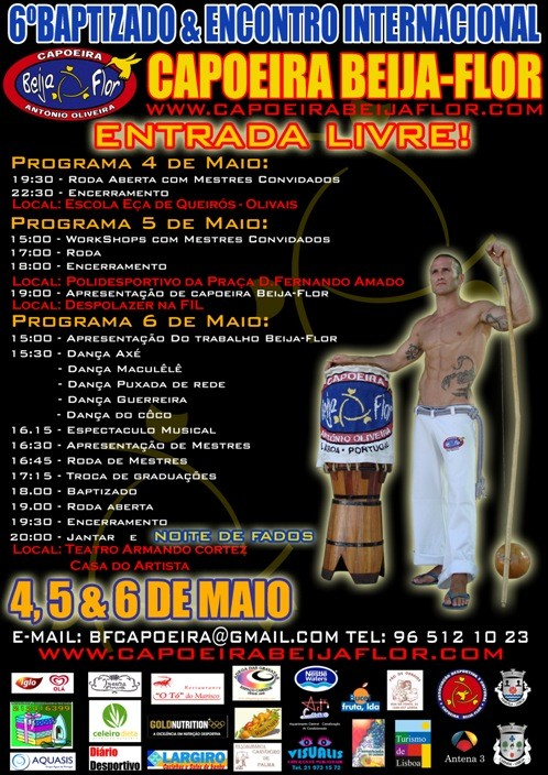Portal Capoeira Portugal: 6º Baptizado e Encontro Internacional de Capoeira do grupo Capoeira Beija-Flor Eventos - Agenda
