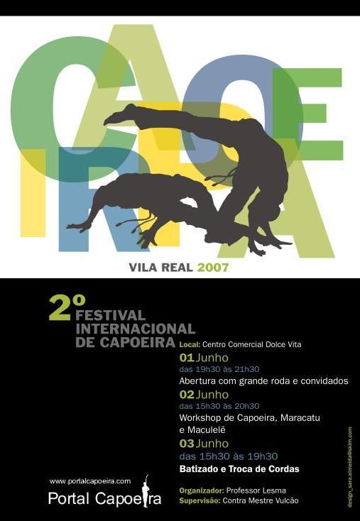 Portal Capoeira Portugal: 2º Festival Internacional de Capoeira em Vila Real Eventos - Agenda