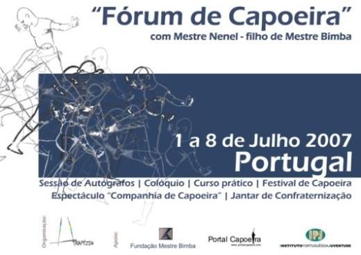 """Portal Capoeira Fórum de Capoeira - com Mestre Nenel, filho de """"Mestre Bimba"""" Eventos - Agenda"""