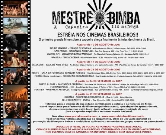 """""""MESTRE BIMBA, A CAPOEIRA ILUMINADA"""" Em Agosto nos Cinemas do Brasil"""
