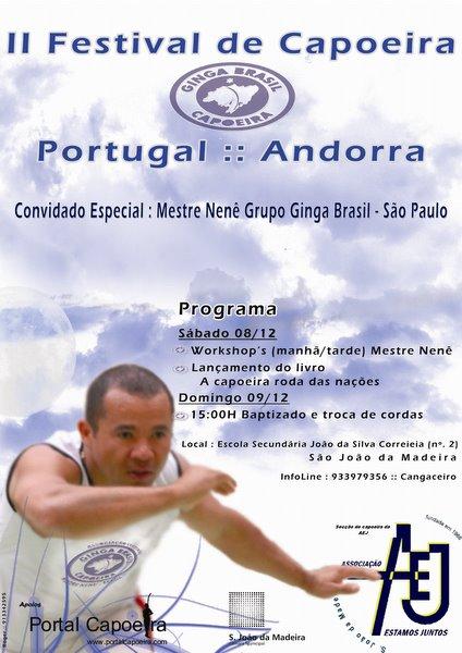 Portal Capoeira Portugal: Festival de capoeira Grupo Ginga Brasil Eventos - Agenda