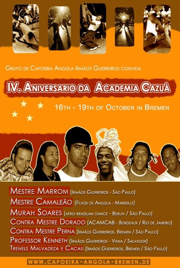 Portal Capoeira Aniversário do Cazuá em Bremen Eventos - Agenda
