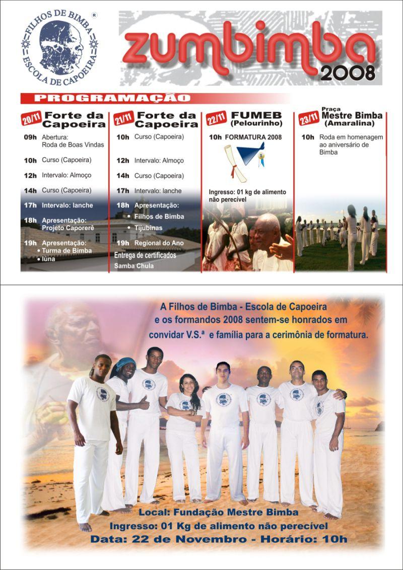 Portal Capoeira Campinas: ZUMBIMBA - 2008 Eventos - Agenda