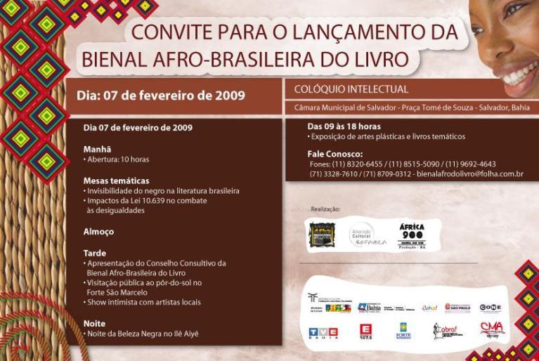 Portal Capoeira Bienal Afro-Brasileira do Livro será lançada em Salvador Eventos - Agenda
