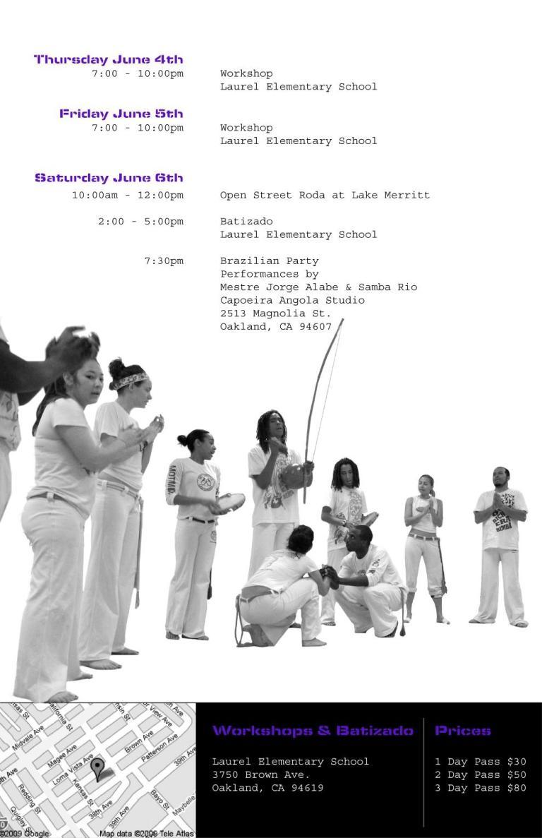 """EUA:  I Encontro de Capoeira """"O Bicho era Bimba"""""""