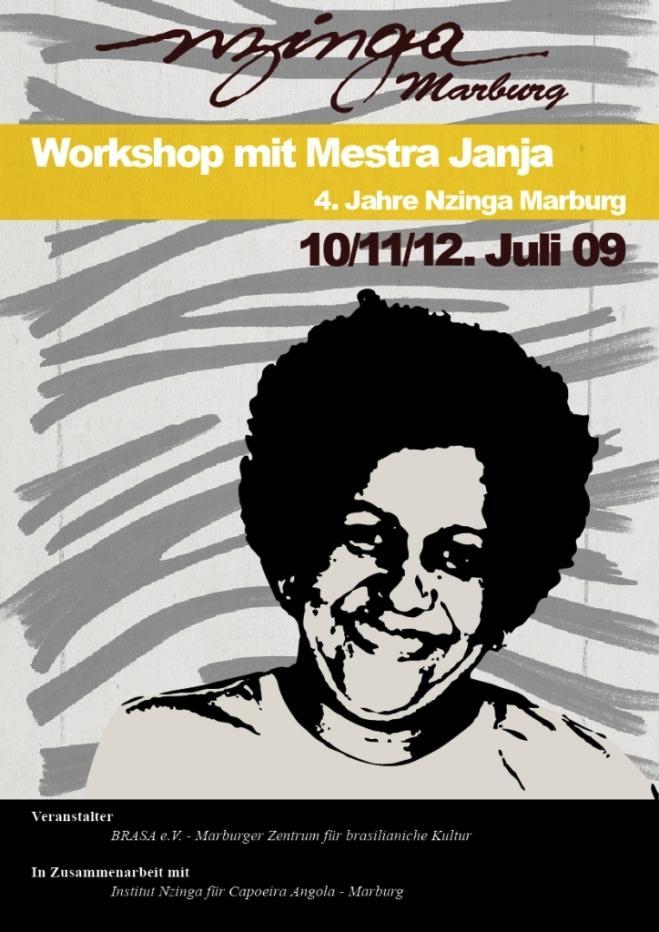 Portal Capoeira Marburg: Workshop com a Mestra Janja Eventos - Agenda