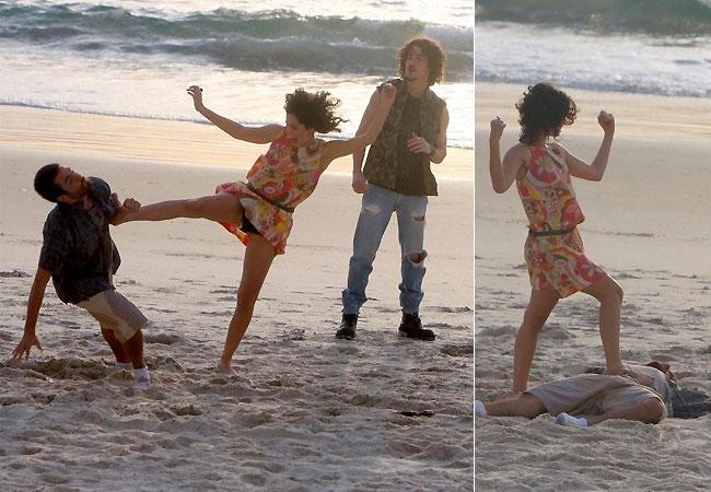 Portal Capoeira TV Globo: Maria Flor grava cenas de ação na praia Notícias - Atualidades