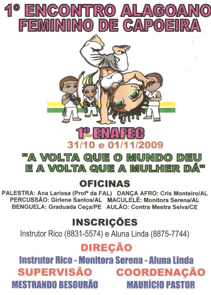Portal Capoeira Alagoas: 1º Encontro Alagoano Feminino de Capoeira Eventos - Agenda
