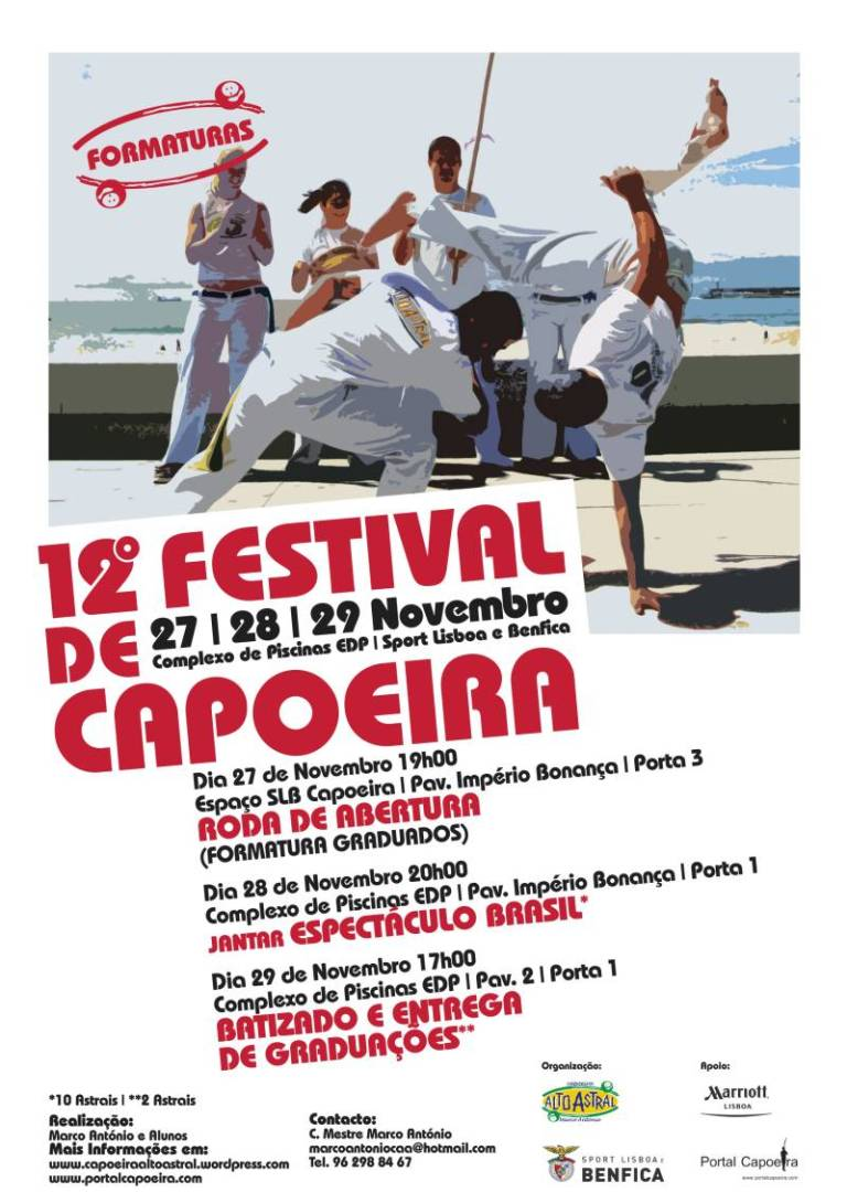 Portal Capoeira Lisboa: 12º Festival de Capoeira - Alto Astral Capoeira Eventos - Agenda