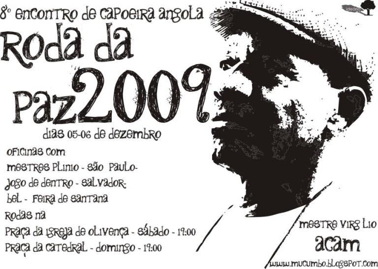 Portal Capoeira VIII Encontro de Capoeira Angola– Roda da Paz 2009 Eventos - Agenda