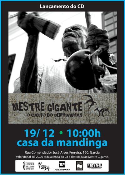 Portal Capoeira Lançamento: Mestre Gigante - O Canto do Berimbauman Eventos - Agenda