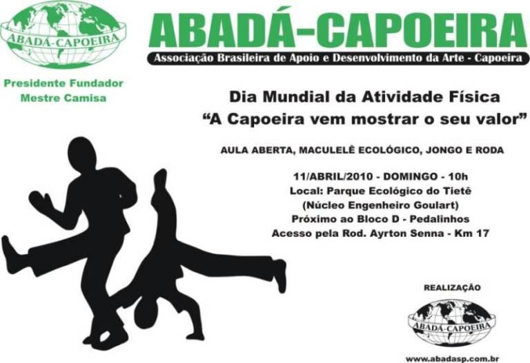 Dia Mundia da Atividade Física: A Capoeira vem mostrar o seu valor