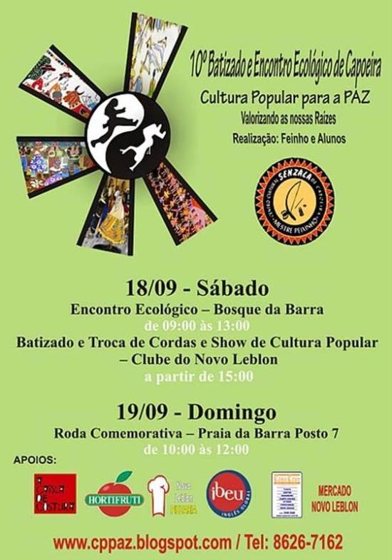 Portal Capoeira RJ: 10º Batizado e Encontro Ecológico de Capoeira Eventos - Agenda