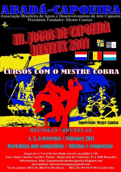 Portal Capoeira III Jogos Benelux e Curso com o Mestre Cobra Eventos - Agenda
